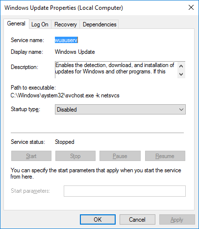 winupdpropdisable